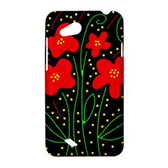 Red flowers HTC Desire VC (T328D) Hardshell Case
