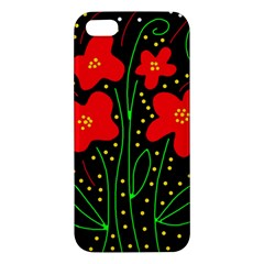 Red flowers Apple iPhone 5 Premium Hardshell Case