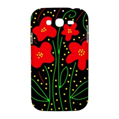 Red flowers Samsung Galaxy Grand DUOS I9082 Hardshell Case