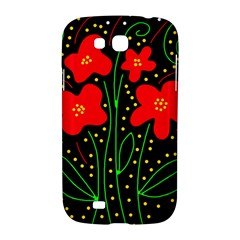 Red flowers Samsung Galaxy Grand GT-I9128 Hardshell Case