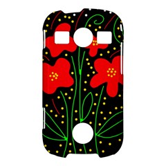 Red flowers Samsung Galaxy S7710 Xcover 2 Hardshell Case