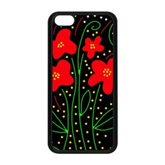 Red flowers Apple iPhone 5C Seamless Case (Black)