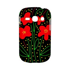 Red flowers Samsung Galaxy S6810 Hardshell Case