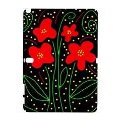 Red flowers Samsung Galaxy Note 10.1 (P600) Hardshell Case