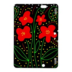 Red flowers Kindle Fire HDX 8.9  Hardshell Case