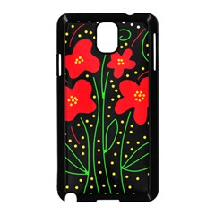 Red flowers Samsung Galaxy Note 3 Neo Hardshell Case (Black)