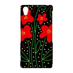 Red flowers Sony Xperia Z2