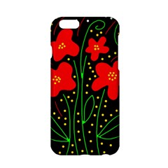 Red flowers Apple iPhone 6/6S Hardshell Case