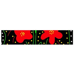 Red flowers Flano Scarf (Small)