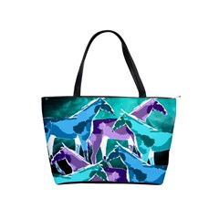 Horses Under A Galaxy Large Shoulder Bag