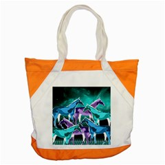 Horses Under A Galaxy Accent Tote Bag