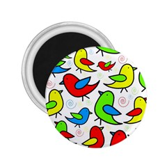 Colorful cute birds pattern 2.25  Magnets