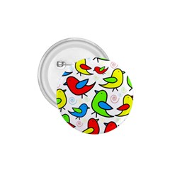 Colorful cute birds pattern 1.75  Buttons