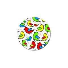 Colorful cute birds pattern Golf Ball Marker