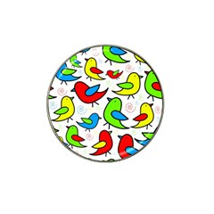 Colorful cute birds pattern Hat Clip Ball Marker (10 pack)