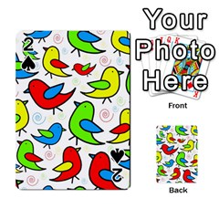 Colorful Cute Birds Pattern Playing Cards 54 Designs