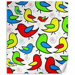 Colorful cute birds pattern Canvas 20  x 24
