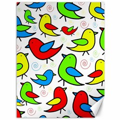 Colorful cute birds pattern Canvas 36  x 48