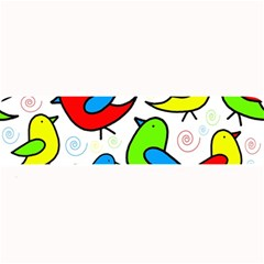 Colorful cute birds pattern Large Bar Mats