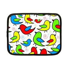 Colorful cute birds pattern Netbook Case (Small)