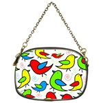 Colorful cute birds pattern Chain Purses (One Side)  Front