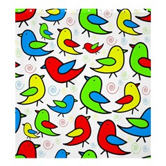 Colorful cute birds pattern Shower Curtain 66  x 72  (Large)