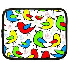 Colorful cute birds pattern Netbook Case (XL)
