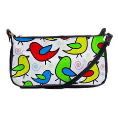 Colorful cute birds pattern Shoulder Clutch Bags