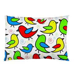 Colorful cute birds pattern Pillow Case (Two Sides)