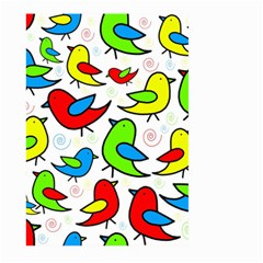 Colorful cute birds pattern Large Garden Flag (Two Sides)