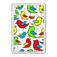 Colorful cute birds pattern Apple iPad Mini Case (White)