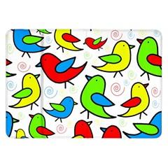 Colorful cute birds pattern Samsung Galaxy Tab 8.9  P7300 Flip Case