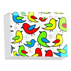 Colorful cute birds pattern 5 x 7  Acrylic Photo Blocks