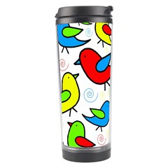 Colorful cute birds pattern Travel Tumbler