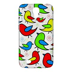 Colorful cute birds pattern Samsung Galaxy Mega 6.3  I9200 Hardshell Case