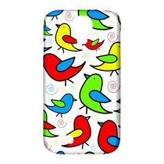 Colorful cute birds pattern Samsung Galaxy S4 Classic Hardshell Case (PC+Silicone)