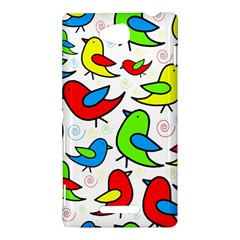 Colorful cute birds pattern Sony Xperia C (S39H)