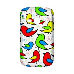 Colorful cute birds pattern Samsung Galaxy S6310 Hardshell Case