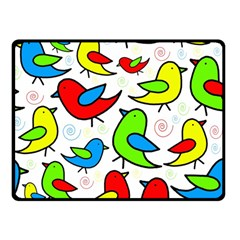 Colorful cute birds pattern Double Sided Fleece Blanket (Small)