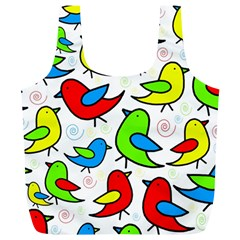 Colorful cute birds pattern Full Print Recycle Bags (L)
