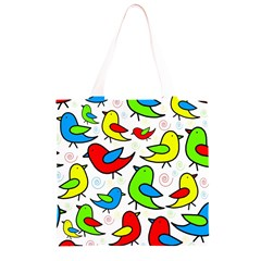 Colorful cute birds pattern Grocery Light Tote Bag