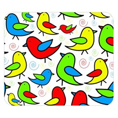 Colorful cute birds pattern Double Sided Flano Blanket (Small)