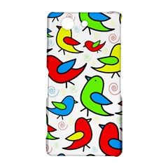 Colorful cute birds pattern Sony Xperia Z3 Compact