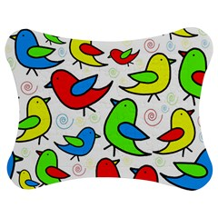 Colorful cute birds pattern Jigsaw Puzzle Photo Stand (Bow)