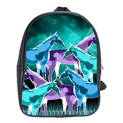 Horses Under A Galaxy School Bag (large)