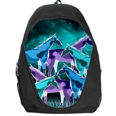 Horses Under A Galaxy Backpack Bag