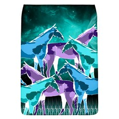 Horses Under A Galaxy Removable Flap Cover (l)