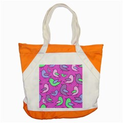 Pink birds pattern Accent Tote Bag