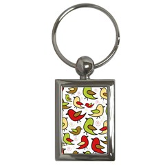 Decorative birds pattern Key Chains (Rectangle)