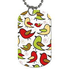 Decorative birds pattern Dog Tag (Two Sides)
